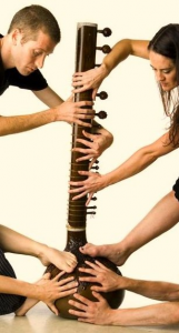Sitar and hands